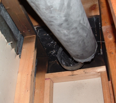 Disconnected-flue-pipe