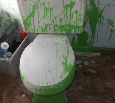 Painted-Toilet