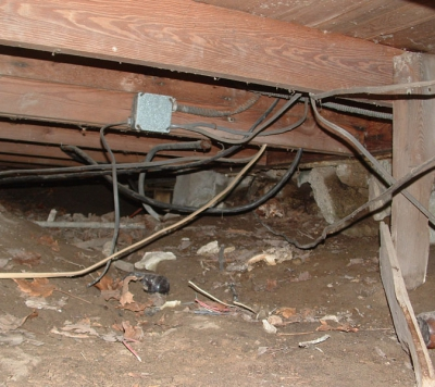 Wiring-in-Crawlspace