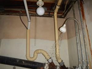 Dangerous overhead light in shower