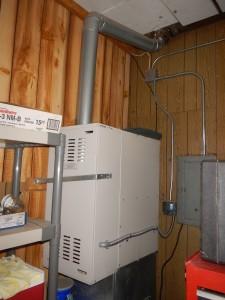 Dangerous furnace installation in garage