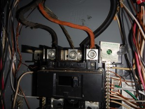 Electrical service panel overfused