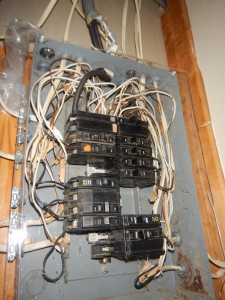 Dangerous electrical panel wiring